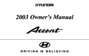 2003 Hyundai Accent Owners Manual page 1