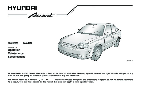 2003 hyundai accent owners manual rh auto filemanual com owners manual hyundai accent 2016 owners manual hyundai accent 2009