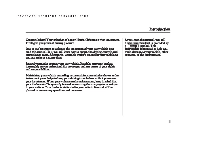 2007 honda civic dx dx g lx ex si owners manual rh auto filemanual com owners manual honda civic 2007 honda civic 2007 owners manual pdf