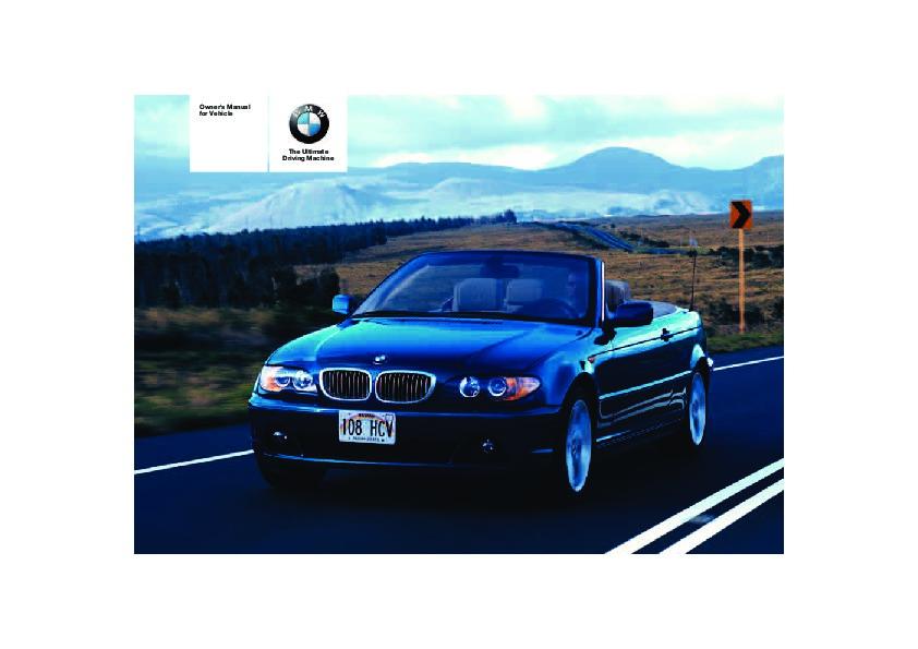 2005 bmw 3 series 325ci 330ci e46 owners manual rh auto filemanual com