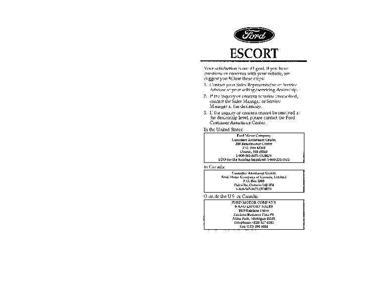 1996 ford escort repair manual