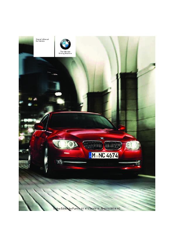 2011 bmw 3 series 328i 335i 335is xdrive m3 e90 e91 e92 e93 coupe 2011 bmw 3 series 328i 335i 335is xdrive m3 e90 e91 e92 e93 coupe owners manual 2011 1 of 278 sciox Gallery