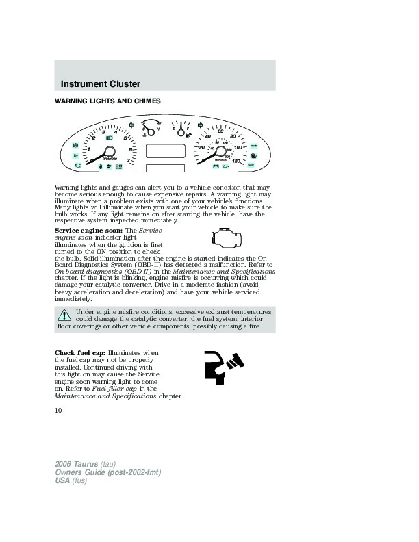 1998 ford taurus service manual pdf