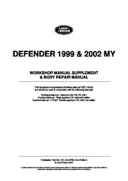 Land Rover Defender Workshop Manual, 1999, 2000, 2001, 2002 page 2