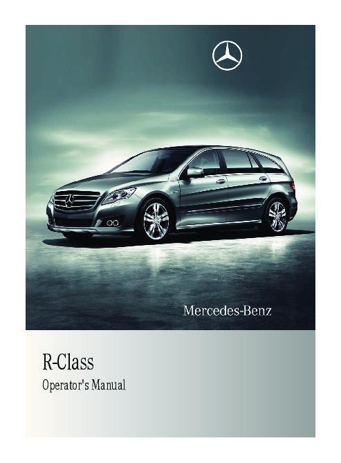 2011 mercedes benz r350 r350 bluetec v251 owners manual rh auto filemanual com Mercedes M-Class Mercedes G-Class