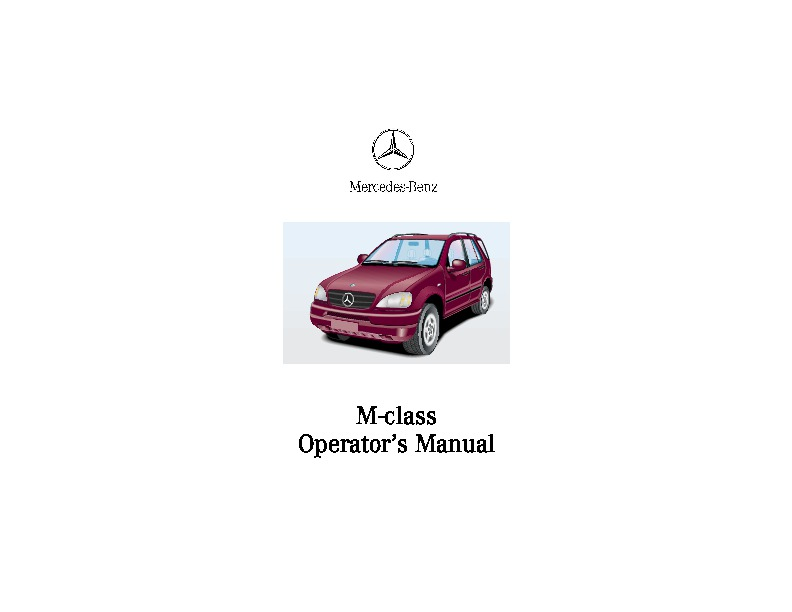 2001 mercedes benz ml320 ml430 ml55 amg owners manual rh auto filemanual com Battery for 2001 ML320 2001 Mercedes-Benz ML320 Recalls