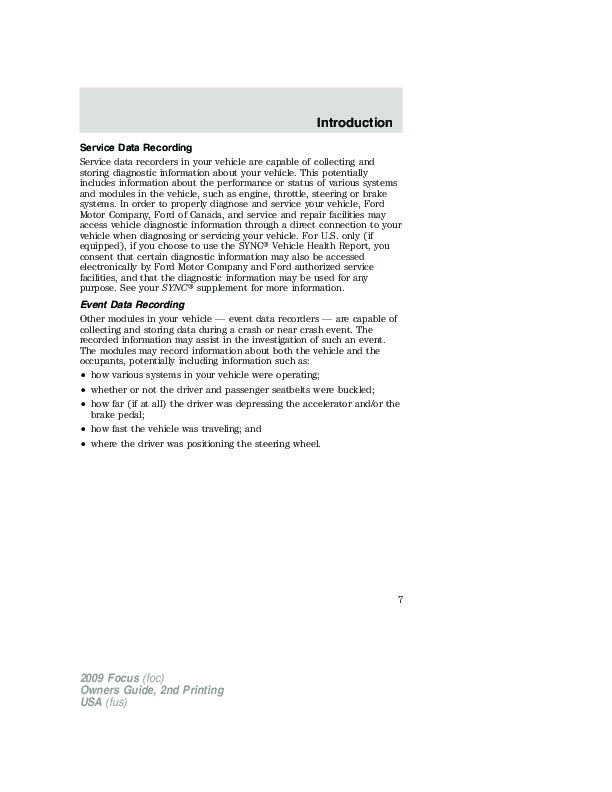 ford focus owners manual pdf