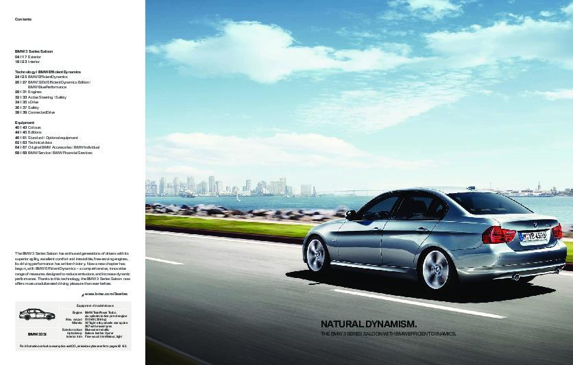 2011 BMW 3 Series 316i 318i 320i 325i 330i 335i E90 E91 E92 E93 XDrive Catalog