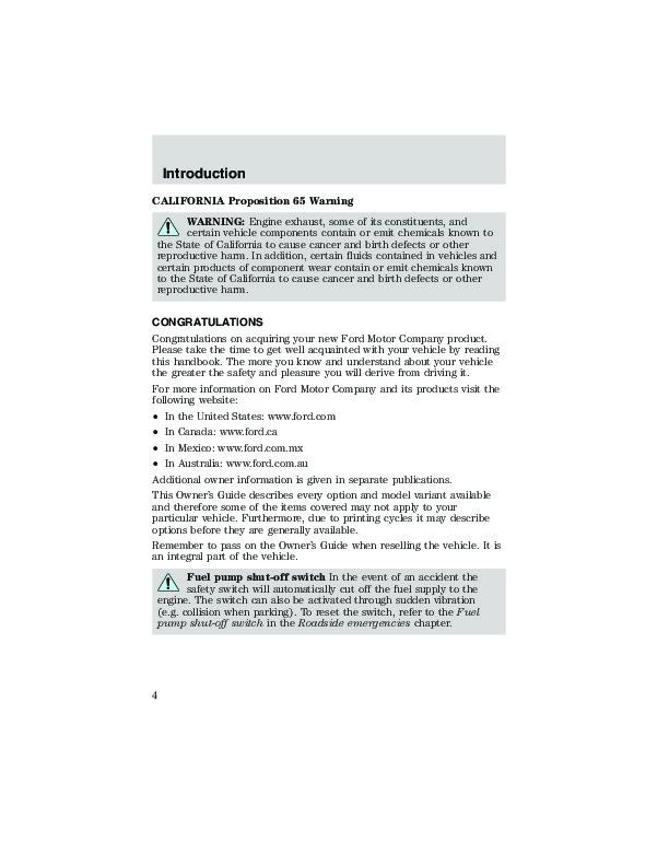 Pdf service manual ford taurus owners manual automotive