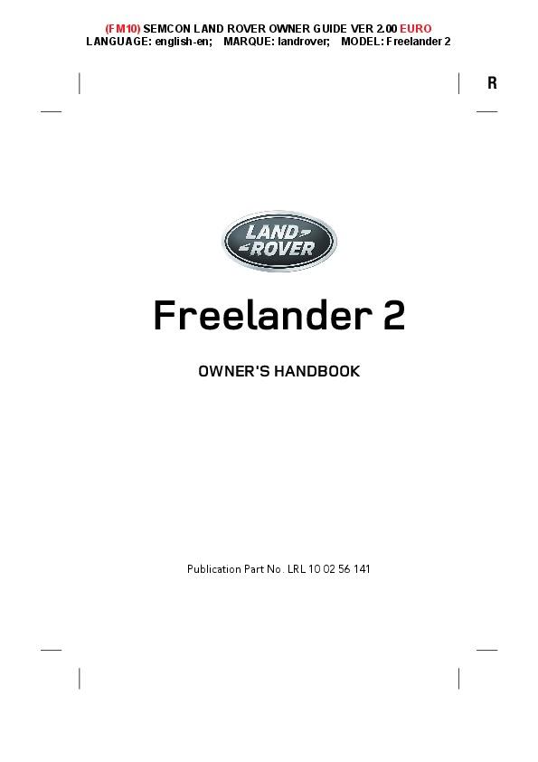 Freelander 2 owner manual